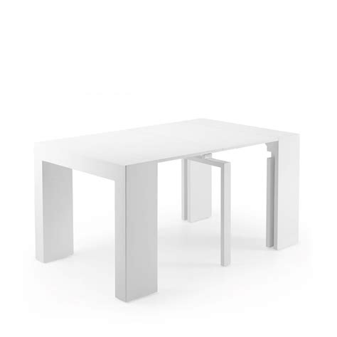 console extensible laqu 233 e blanche penta by drawer fr