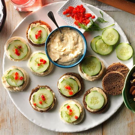 healthy canapes dinner cucumber canapes recipe taste of home