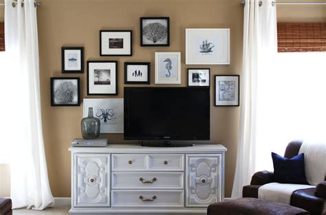 above tv lisa mende design how to decorate around a flat screen tv