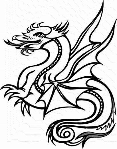 Dragon Coloring Pages Dragons Printable Colour Cool