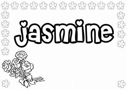 Coloring Jasmine Pages Names Girly Hellokids Drawing