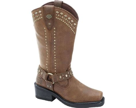 brown leather harley boots harley davidson women 39 s summer 12 in black or brown