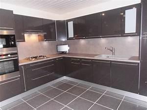 tiboud photo 1 1 cuisine meubles hygena gamme quotcity With meuble cuisine couleur taupe 7 carrelage sol salle de bain gris clair