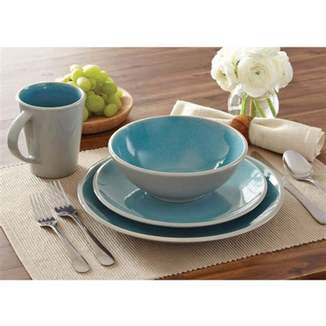 better homes and gardens dinnerware better homes and gardens 16 piece dinnerware set walmart com