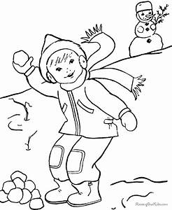 Winter Color By Number AZ Coloring Pages