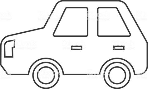 Car Outline Icon Stock Vector Art & More Images Of Car
