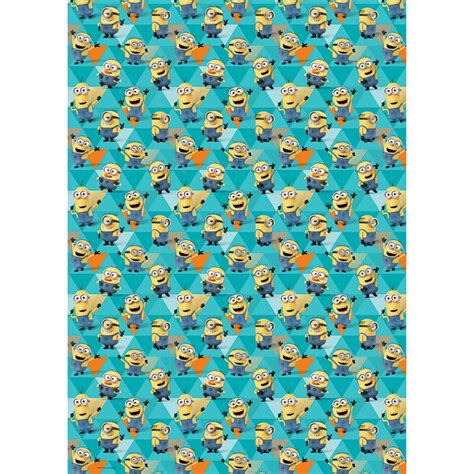 despicable  minions wrapping paper  gift wrap bm