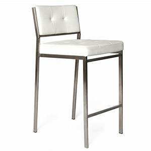 Modern Counter Stool In White Colour
