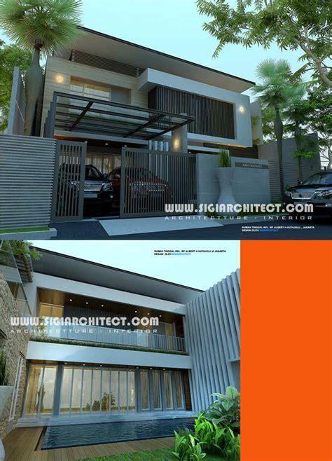 rumah mewah  lantai kolam renang minimalis modern rumah
