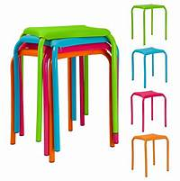 children s stools Childrens Metal & Plastic Sitting Stools Utility Bedroom Eating Large Chairs NEW | eBay