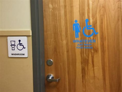 Bc School's Take On A Genderneutral Bathroom 'whatever