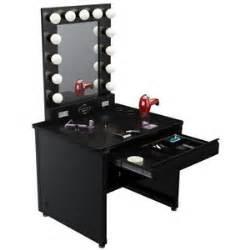 broadway lighted vanity makeup desk black vanity