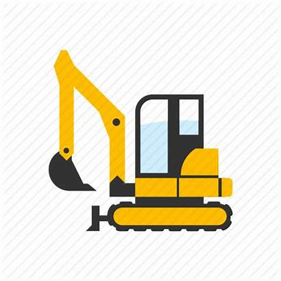 Excavator Icon Construction Mini Digger Digging Icons