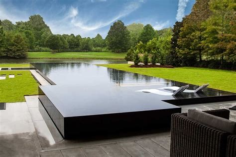 infinity pool designs design cost waterfall homes pools home elements style edge hot