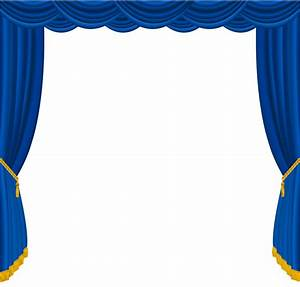 transparent blue curtains decor png clipart gallery With gold curtains png