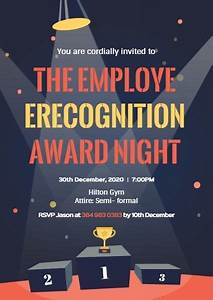 Online Employee Recognition Award Night Invitation Template