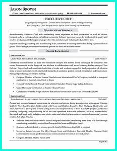chef resumes that will impress your future company With chef resume examples