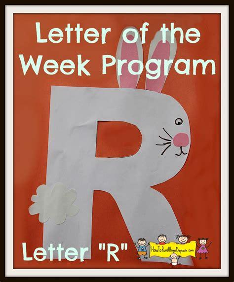 letter  letter   week program   run  home
