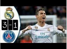 REAL MADRID VS PSG 3 1 HIGHLIGHTS GOAL 1522018 epic
