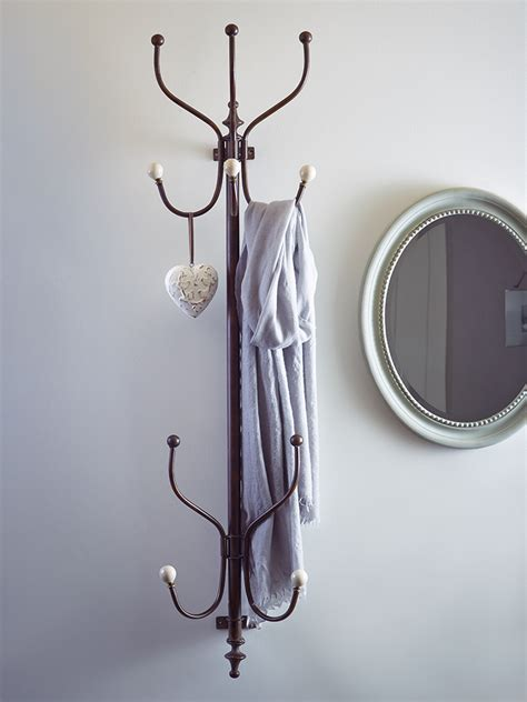 wall mounted coat rack hallway ideas pinterest wall