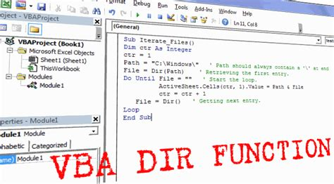write text file vba excel
