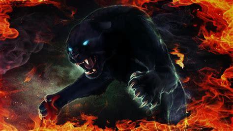 Panther Animal Wallpaper - fiery black panther hd wallpaper wallpaper studio 10