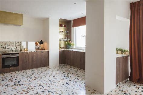 terrazzo kitchen floor that s so terrazzo 13 ways to use terrazzo in your home 2702