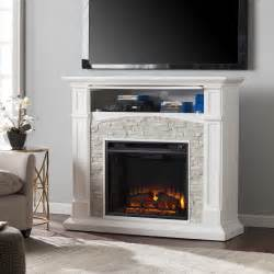 Faux Fireplaces For Sale by Wildon Home 174 Sheldon Faux Stone Media Electric Fireplace