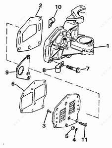 evinrude 1988 6 e6rlccs intake manifold 8 parts catalog With diagram of 1988 e200cxccr evinrude intake manifold diagram and parts