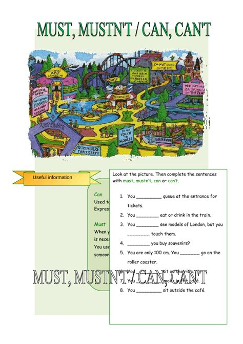 must mustn t can can t worksheet