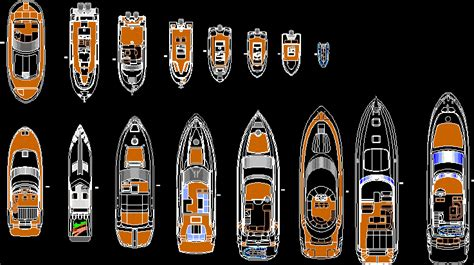 boats  yachts dwg plan  autocad designs cad