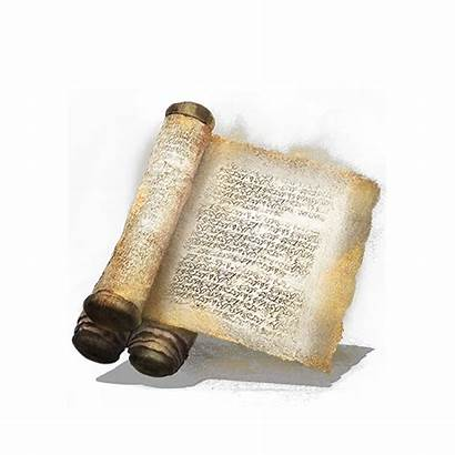Golden Scroll Souls Dark Pergamino Dorado Pergamena