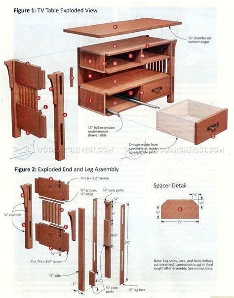 arts crafts tv stand plans woodarchivist