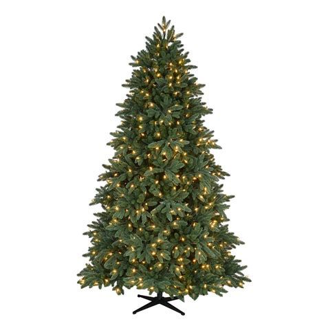 home accents holiday 7 5 ft pre lit led bristol spruce