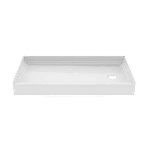 30 x 60 shower base aquatic a2 60 in x 30 in single threshold right drain 7326