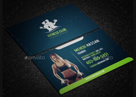 gym business cards  premium psd eps illustrator