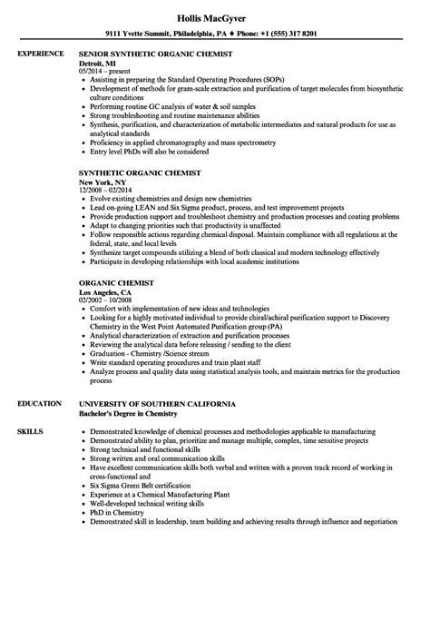 bsc chemistry resume format    resume