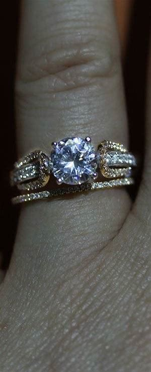 mix  match engagement rings  wedding bands