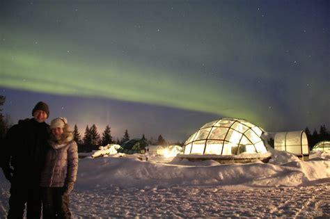 Jamie Amazing Northern Lights At The Glass Igloo Village