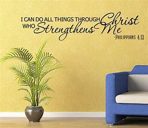 Details about religous bible verse vinyl wall quote decal for Biblical wall decals ideas