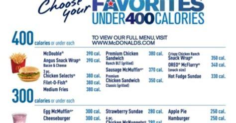 "News Mcdonald's Pushes ""under 400 Calories"" Menu Brand"