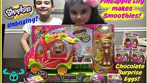 Shopkins Chocolate Surprise Eggs! UNBOXING with PINEAPPLE ...
