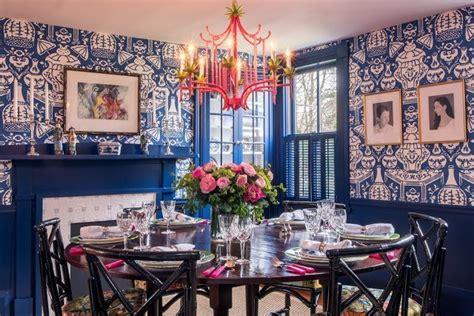 blue  white ginger jar david hicks  vase wallpaper