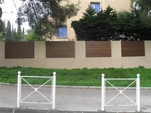 Faire Un Mur De Cloture : cr ation d 39 un mur de cl ture parpaings bois ~ Premium-room.com Idées de Décoration