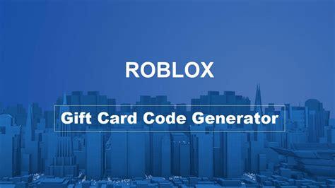 roblox gift card code generator    survey