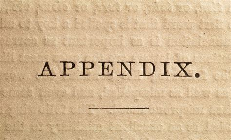 I'm trying to rename the automatic captions in the appendix's tables that i have. Definition of Appendix in a Book or Written Work