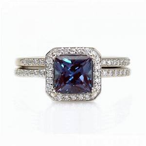 alexandrite engagement ring diamond wedding band aisle With alexandrite wedding rings