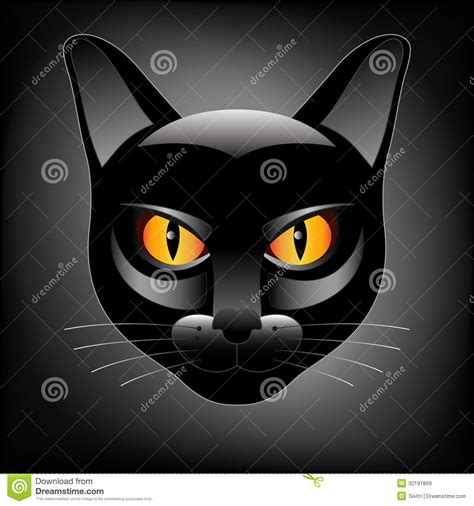 halloween black cat head logo royalty  stock images