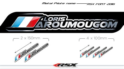 stickers pilote rsx 2015