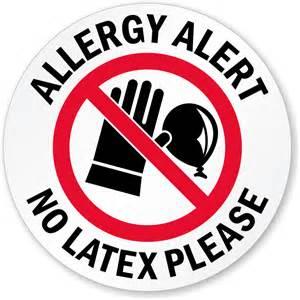 Latex Allergy Sign Printable